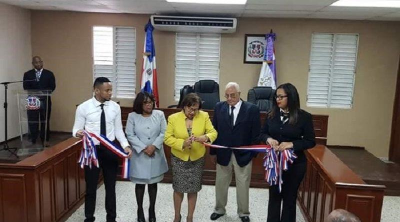 Poder Judicial inaugura sala de familia de la Cámara Civil y Comercial deSan Cristóbal
