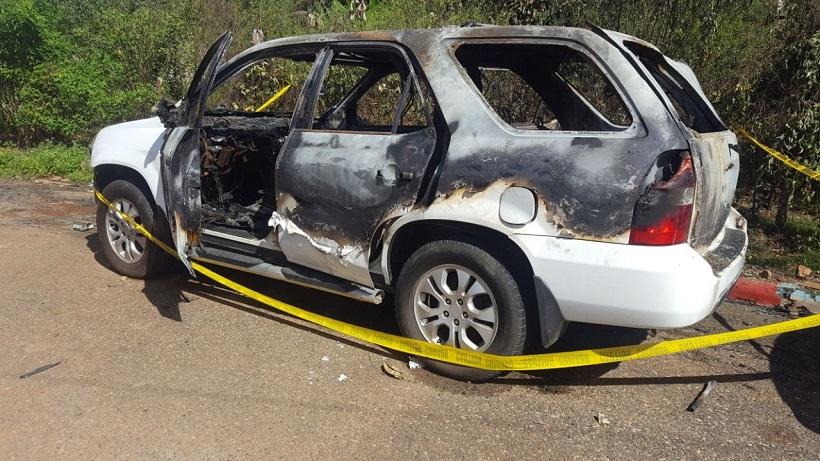 vehiculo incendiado del alcalde villa